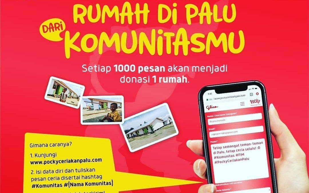 Wujudkan Rumah untuk Palu bersama Pocky!